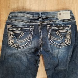 Silver Jeans cropped size 28.